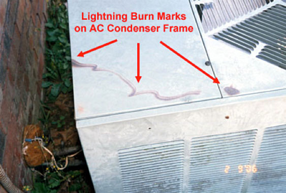 Lightning Strikes AC Unit & what to do if lightning hit your air conditioner azcodes.com