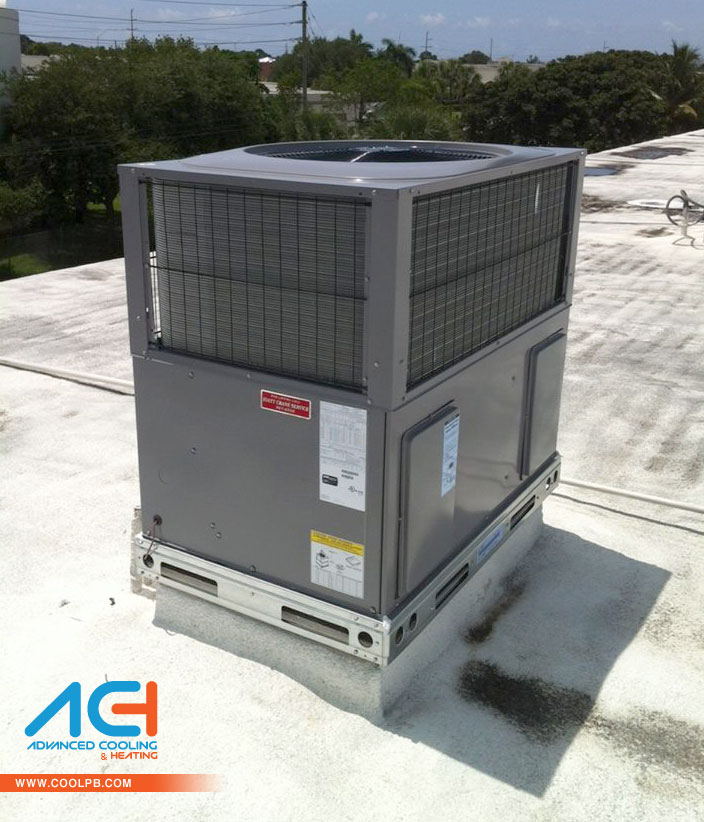 Air Conditioner Package Unit Section : Another successful downflow air conditioner package installed